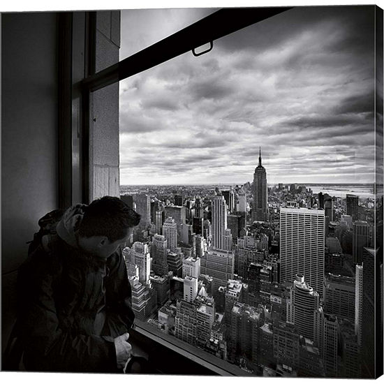 Metaverse Art NYC Manhattan VIew Gallery Wrapped Canvas Wall Art