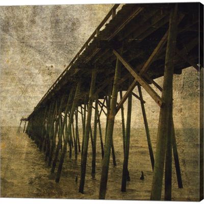 Metaverse Art Ocean Pier No. 1 Gallery Wrapped Canvas Wall Art