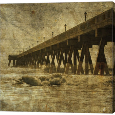 Metaverse Art Ocean Pier No. 2 Gallery Wrapped Canvas Wall Art