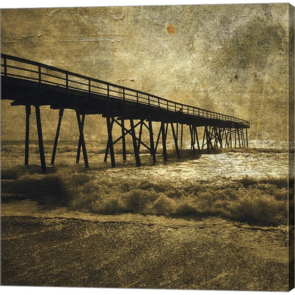 Metaverse Art Ocean Pier No. 3 Gallery Wrapped Canvas Wall Art