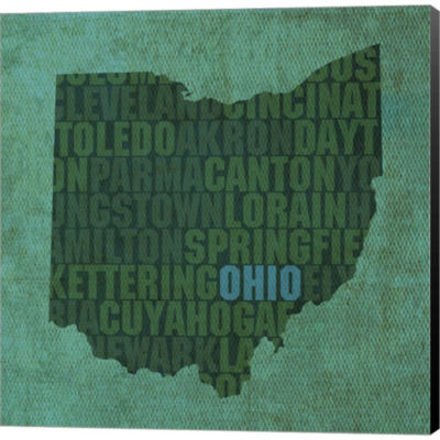 Metaverse Art Ohio State Words Gallery Wrapped Canvas Wall Art