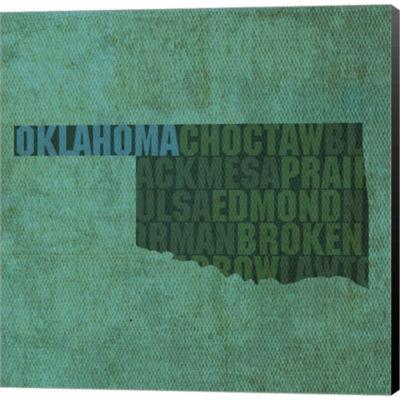 Metaverse Art Oklahoma State Words Gallery WrappedCanvas Wall Art