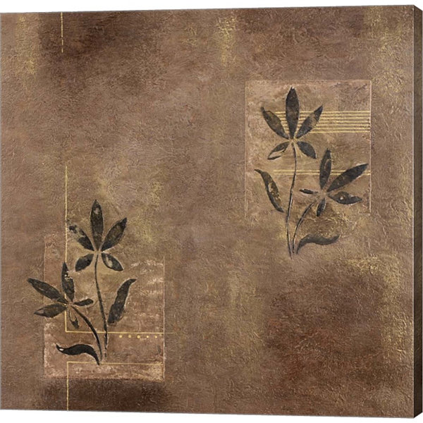 Metaverse Art Olive On Grey Gallery Wrapped CanvasWall Art