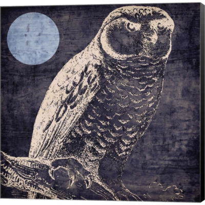 Metaverse Art Owl 1 Gallery Wrapped Canvas Wall Art