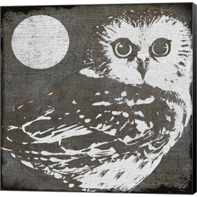 Metaverse Art Owl 3 Gallery Wrapped Canvas Wall Art