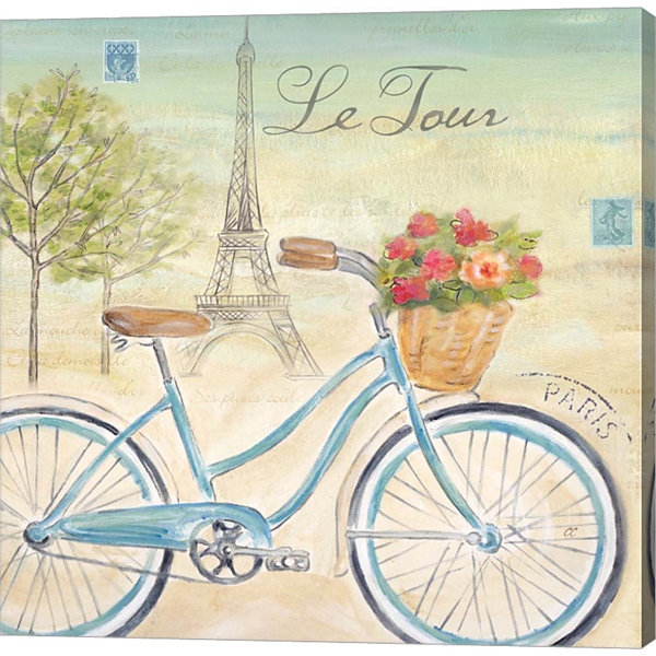 Metaverse Art Paris Bike Tour I Gallery Wrapped Canvas Wall Art