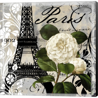 Metaverse Art Paris Blanc I Gallery Wrapped CanvasWall Art