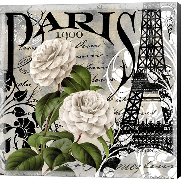 Metaverse Art Paris Blanc II Gallery Wrapped Canvas Wall Art