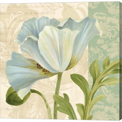 Metaverse Art Pastel Poppies IV Gallery Wrapped Canvas Wall Art