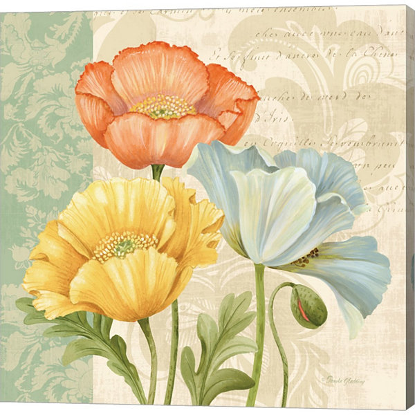 Metaverse Art Pastel Poppies Multi I by Pamela Gladding Gallery Wrapped Canvas Wall Art