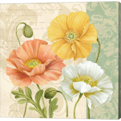 Metaverse Art Pastel Poppies Multi II Gallery Wrapped Canvas Wall Art