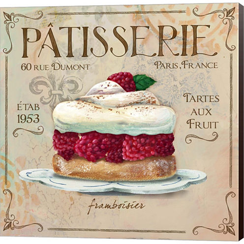 Patisserie I Gallery Wrapped Canvas Wall Art On Deep Stretch Bars