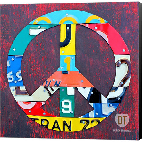 Peace Gallery Wrapped Canvas Wall Art On Deep Stretch Bars