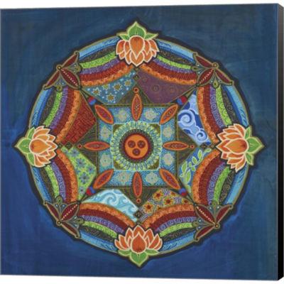 Peace Mandala Gallery Wrapped Canvas Wall Art On Deep Stretch Bars
