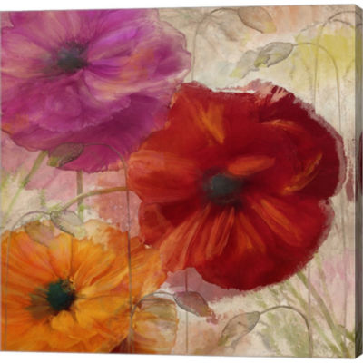 Metaverse Art Penchant For Poppies I Gallery Wrapped Canvas Wall Art