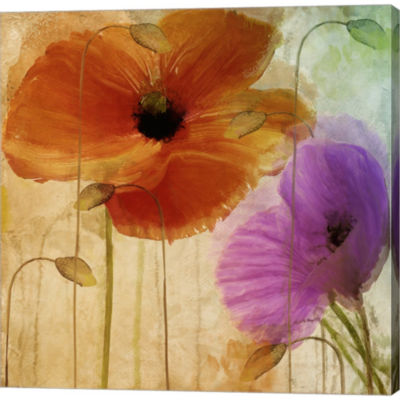 Metaverse Art Penchant For Poppies II Gallery Wrapped Canvas Wall Art