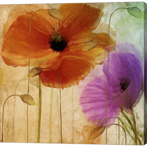 Penchant For Poppies II Gallery Wrapped Canvas Wall Art On Deep Stretch Bars