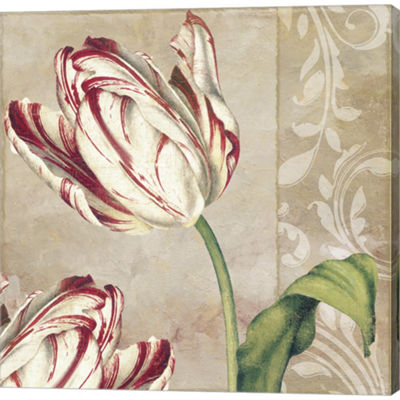 Metaverse Art Peppermint Tulips I Gallery WrappedCanvas Wall Art