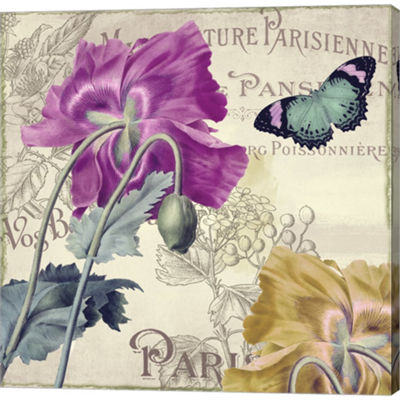 Metaverse Art Petals Of Paris III Gallery WrappedCanvas Wall Art