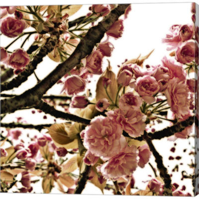 Metaverse Art Pink Blossom I Gallery Wrapped Canvas Wall Art