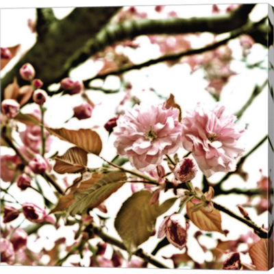Metaverse Art Pink Blossom II Gallery Wrapped Canvas Wall Art