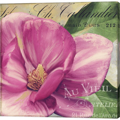 Metaverse Art Pink Magnolia II Gallery Wrapped Canvas Wall Art