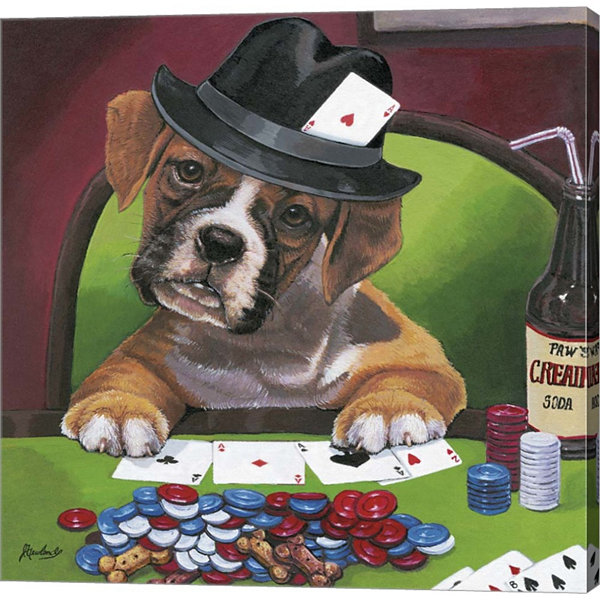 Metaverse Art Poker Dogs 2 Gallery Wrapped CanvasWall Art