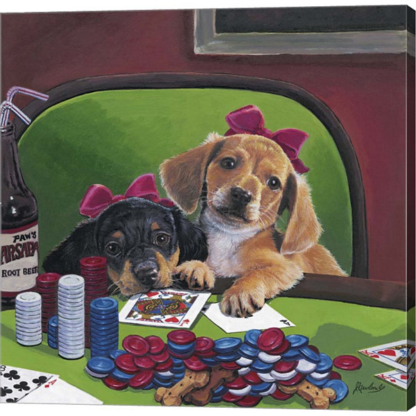 Metaverse Art Poker Dogs 3 Gallery Wrapped CanvasWall Art