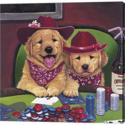 Metaverse Art Poker Dogs Gallery Wrapped Canvas Wall Art