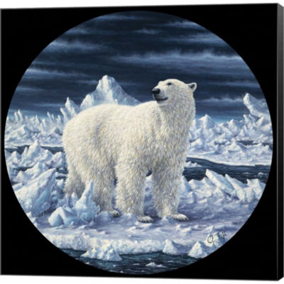 Metaverse Art Polar Bear Gallery Wrapped Canvas Wall Art