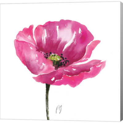 Metaverse Art Poppies Tempo I Gallery Wrapped Canvas Wall Art