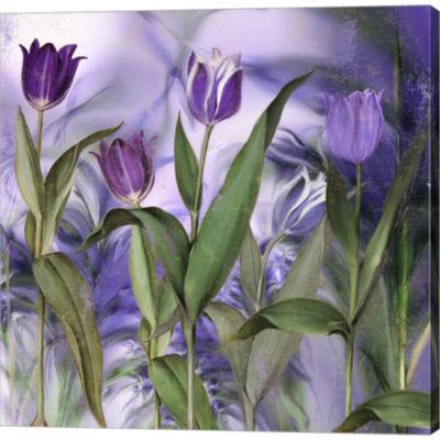 Metaverse Art Purple Dream II Gallery Wrapped Canvas Wall Art