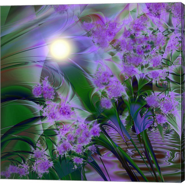 Metaverse Art Purplescape Gallery Wrapped Canvas Wall Art