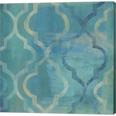 Metaverse Art Quatrefoil I Gallery Wrapped CanvasWall Art