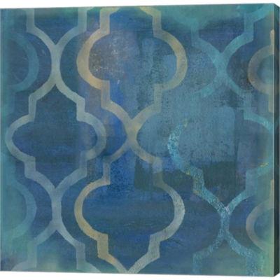 Metaverse Art Quatrefoil IV Gallery Wrapped CanvasWall Art