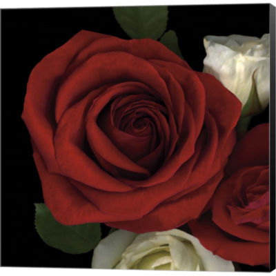 Metaverse Art Red Rose Gallery Wrapped Canvas WallArt