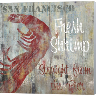 Resturant Seafood I Gallery Wrapped Canvas Wall Art On Deep Stretch Bars