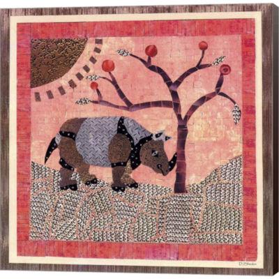 Metaverse Art Rhinoceros II Gallery Wrapped CanvasWall Art