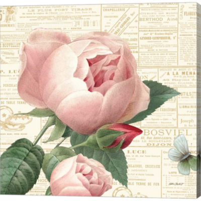 Metaverse Art Roses In Paris V Gallery Wrapped Canvas Wall Art