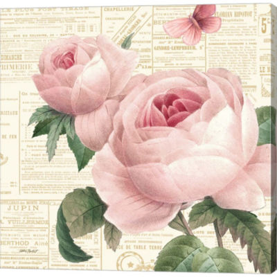 Metaverse Art Roses In Paris VI Gallery Wrapped Canvas Wall Art