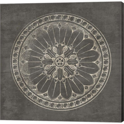 Metaverse Art Rosette I Gray Gallery Wrapped Canvas Wall Art