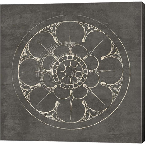 Rosette III Gray Gallery Wrapped Canvas Wall Art On Deep Stretch Bars