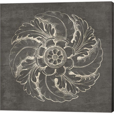Metaverse Art Rosette IV Gray Gallery Wrapped Canvas Wall Art