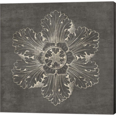 Metaverse Art Rosette V Gray Gallery Wrapped Canvas Wall Art