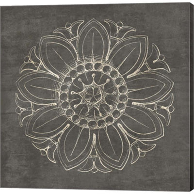 Metaverse Art Rosette VIi Gray Gallery Wrapped Canvas Wall Art