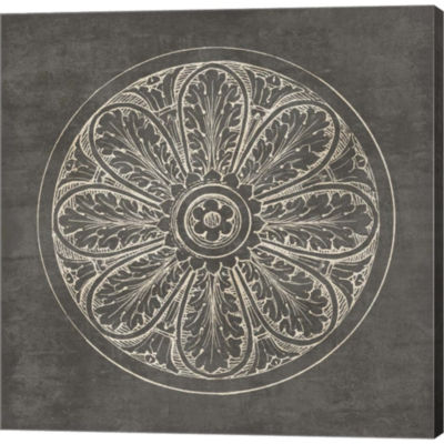 Rosette VIii Gray Gallery Wrapped Canvas Wall ArtOn Deep Stretch Bars