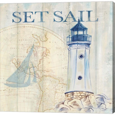 Sail Away I Gallery Wrapped Canvas Wall Art On Deep Stretch Bars