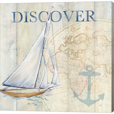 Metaverse Art Sail Away II Gallery Wrapped CanvasWall Art