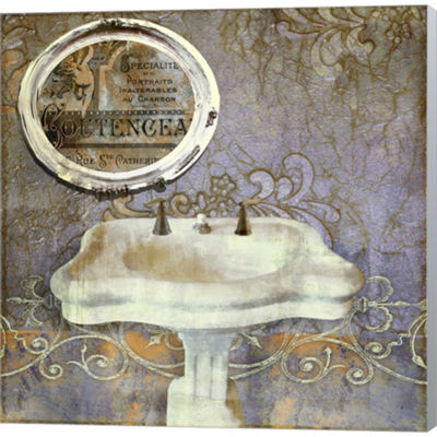 Metaverse Art Salle De Bain II Gallery Wrapped Canvas Wall Art