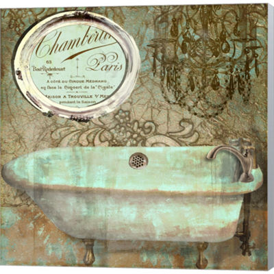 Metaverse Art Salle De Bain IV Gallery Wrapped Canvas Wall Art